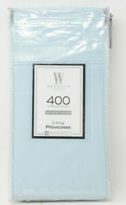 Wamsutta-400-Thread-Count-100-Cotton-King-Pillowcases-in-Sky-Blue-Set-of-2
