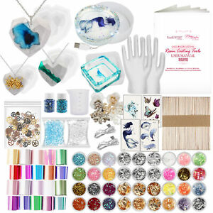 Resin Crafts Resin Mold Silicone Mould Gem Pendant Molds Jewelry Making Tools