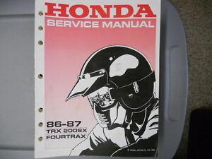 honda trx 200 repair manual