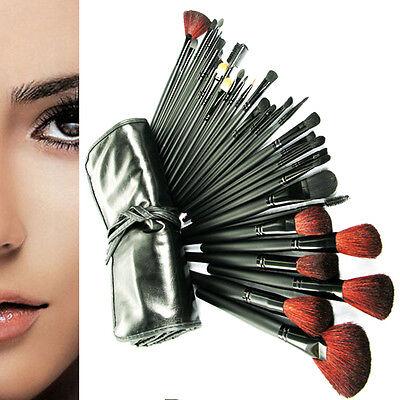 22/24/32 PCS Makeup Brush Cosmetic Set Case Black/Pink Make-up Brushes Pouch Bag