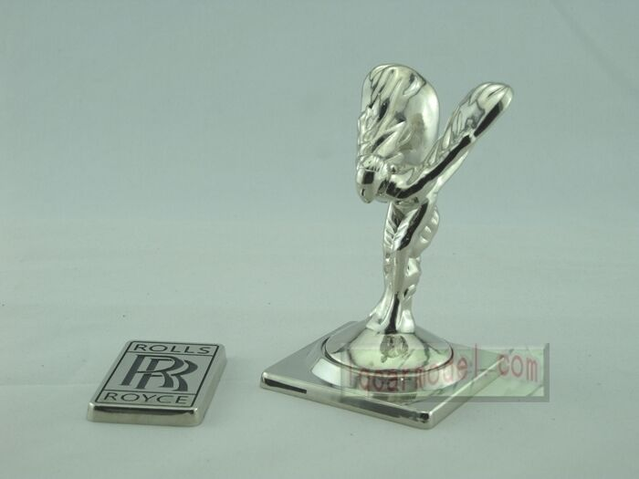 Scala 1:1 ROLLS-ROYCE FAVOLOSO HOOD ORNAUomoT MASCOTTE metallo argento modello