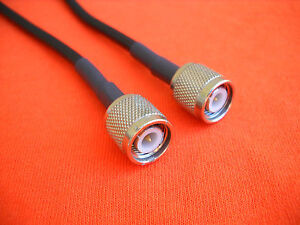 """USA FL RG58 UHF PL-259 MALE TO BNC MALE  20/"""" PIGTAIL JUMPER CABLE  PATCH CORD"""