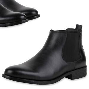 227500d22f04be Warm Gefütterte Herren Chelsea Boots Leder-Optik Schuhe 78691 Top