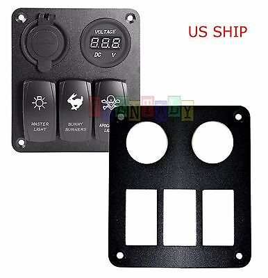 Car Boat 3 Way Aluminum Rocker Switch Panel Housing Holder FOR ARB Carling Narva