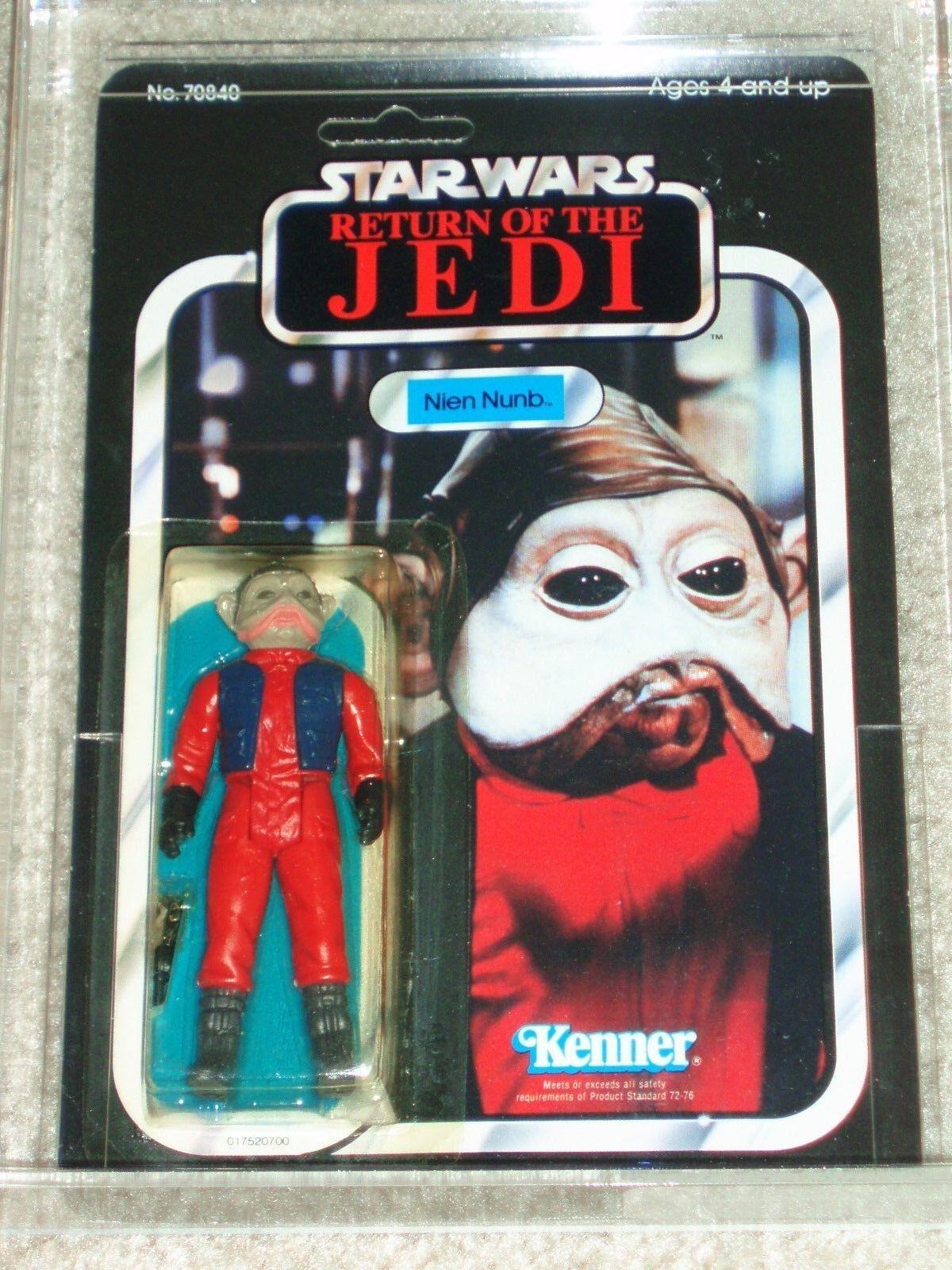 Vintage Star Wars 1983 Action Figure Authority 80 85 85 NIEN NUNB le retour du jedi 65-arrière B Kenner Comme neuf on Card pion