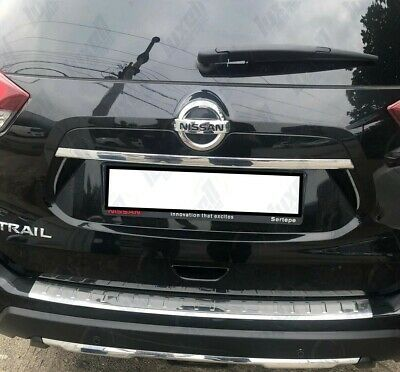 for NISSAN X-TRAIL T32 2014-2017 Stainless Steel CHROME Rear Bumper Protector Sill Scratch Guard Cover
