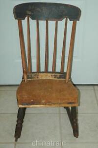 Strange Details About Antique Circa 1850 Small Rocker Rocking Chair Original Paint Stenciling Spiritservingveterans Wood Chair Design Ideas Spiritservingveteransorg