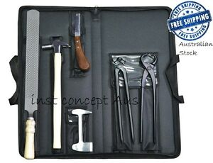 HORSE TOOL KIT FARRIER TOOL KIT,8 Pieces Instruments Kit with Leather Wallet