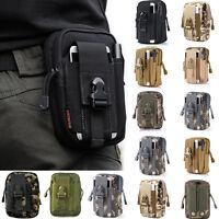 Mens Military Tactical Waterproof Waist Pack Purse Mini Outdoor Sport Small Bag