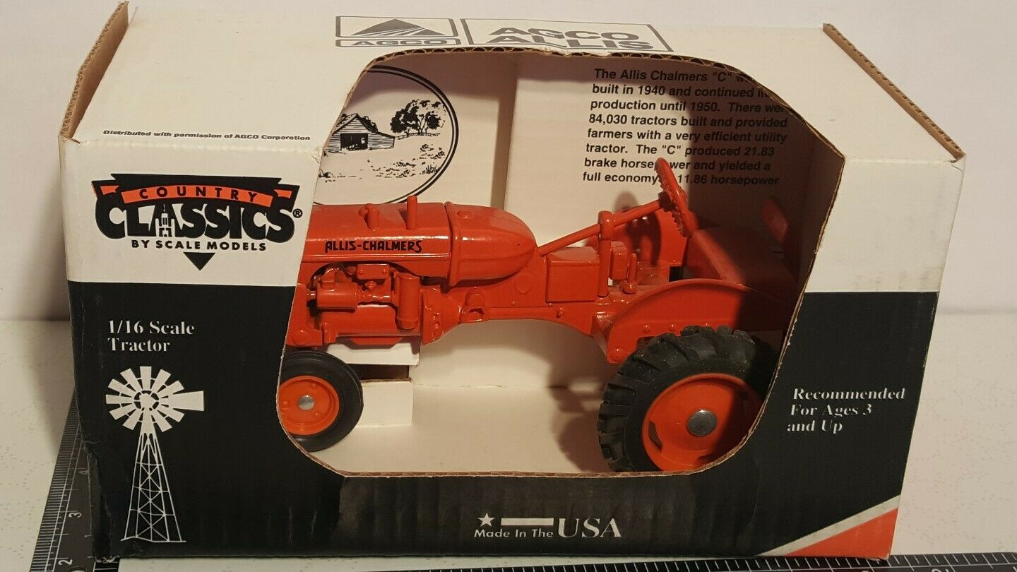 Allis Chalmers C 1 16 diecast farm tractor replica by Scale Models