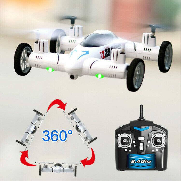 (EU) Quadcopter X25 Smart RC flygande Car Drone Aircraft 360 Vänder One Key Return
