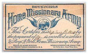 PRESBYTERIAN-BOARD-OF-HOME-MISSIONARY-ARMY-MAP-AND-MEMBERSHIP-CARD-CIRCA-1890