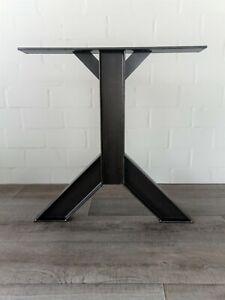 4 Tischbeine schräg Doppel T Träger 100mm  Industrie Design H 72 cm