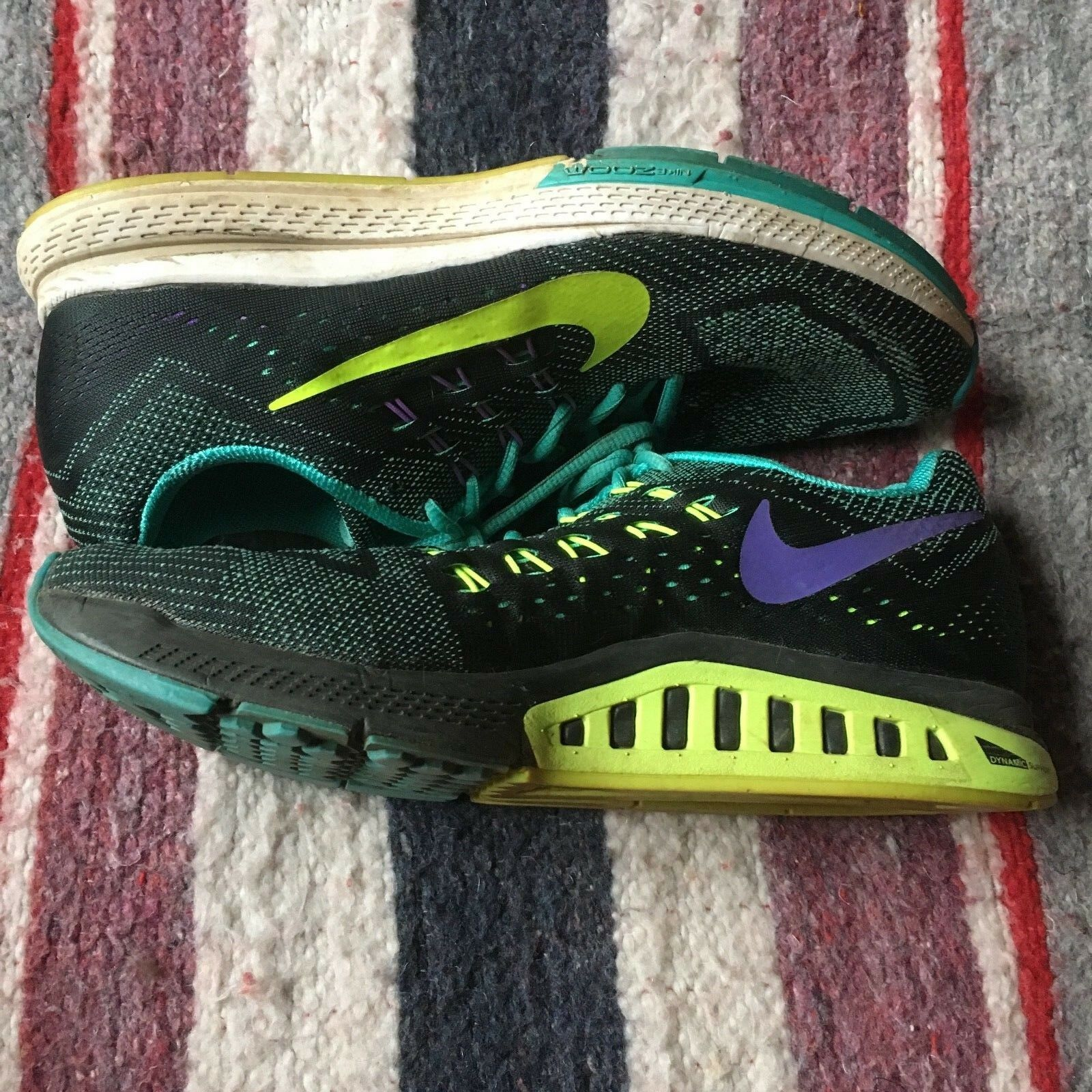 NIKE AIR ZOOM STRUCTURE 18 WOMEN'S SHOE SIZE 9.5  WITH SUPERFEET INSOLES