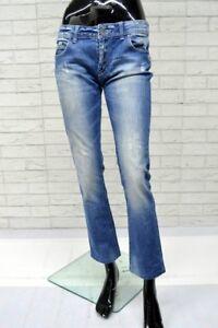Jeans-RENATO-BALESTRA-Donna-Taglia-44-Pantalone-Woman-Elastico-Gamba-Dritta