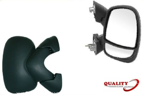 Door Wing Mirror Manual Black O//S Right Side Renault Trafic 2001-2014 Brand New