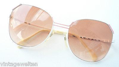 Creativo Menrad Bianco-rosa Occhiali Da Sole Vintage Oversized Metallo Occhiali Estate Misura L-mostra Il Titolo Originale Grande Assortimento