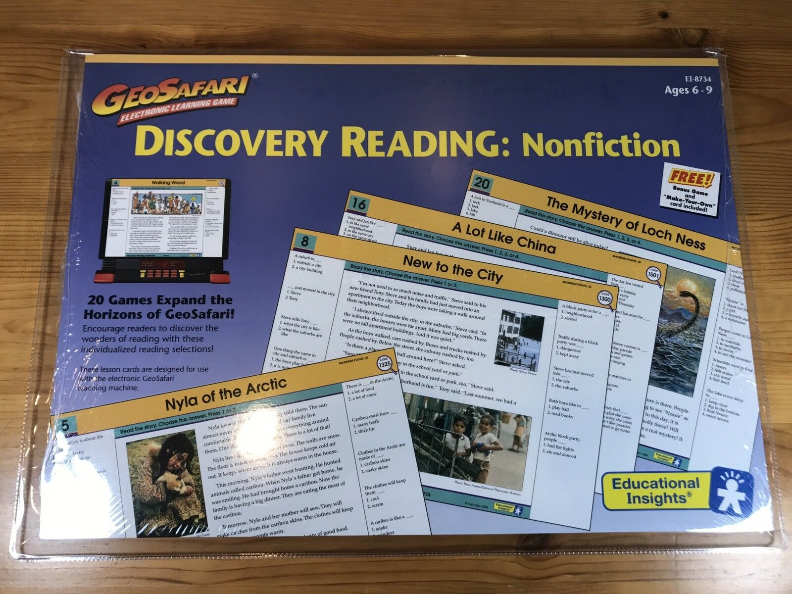 New GeoSafari Electronic Learning Game Discovery Reading  Nonfiction EI-8734