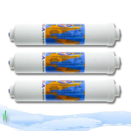 """Omnipure en ligne réfrigérateur filtre à eau CARTIRDGE K2533JJ 1//4/"""" push fit raccords x3"""