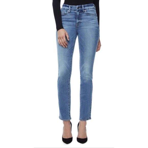 Neu Good American Gut Gerade GASL103 Blau087 Gerades Bein Jeans Größe  6 28  5