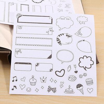 6 Sheets Cartoon Calendar Paper Sticker Scrapbook Calendar Diary Planner Decor