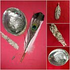 White Sage Smudge Kit Silver Charms Peacock Abalone Shell Smudge Wand Feather