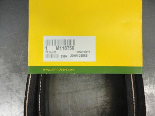"""JOHN DEERE Secondary Mower Belt M118756 for 48/"""" deck on F525 s//n above 130001+"""