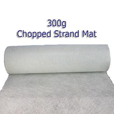 600gm 600gsm 10m x 1m Fibreglass Chopped Strand Mat CSM GRP
