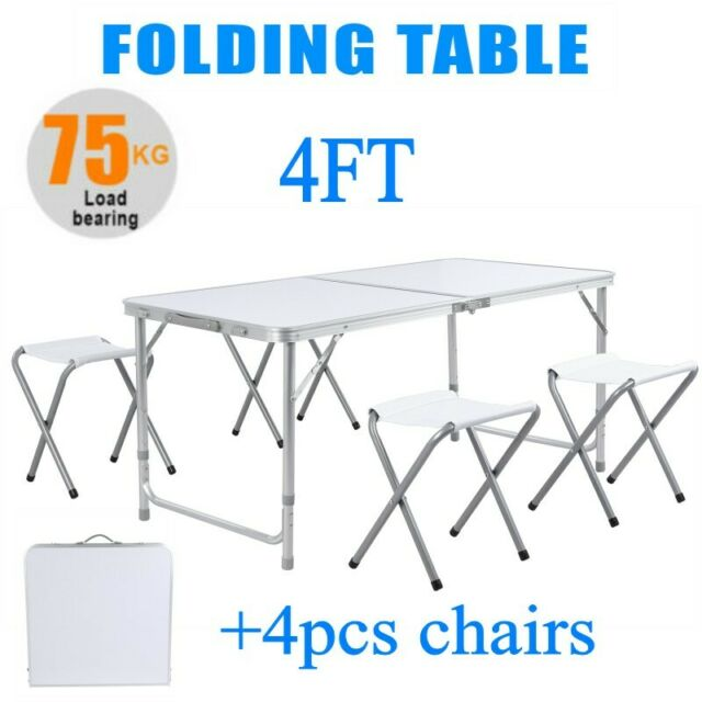 NEW 6ft RECTANGULAR FOLDING TABLE CAMPING FOLDABLE PORTABLE PICNIC PARTY TABLES