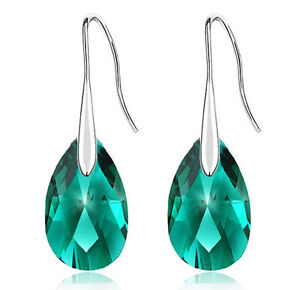 Emerald-Crystal-Green-Almond-Teardrop-Drop-Earrings-E833