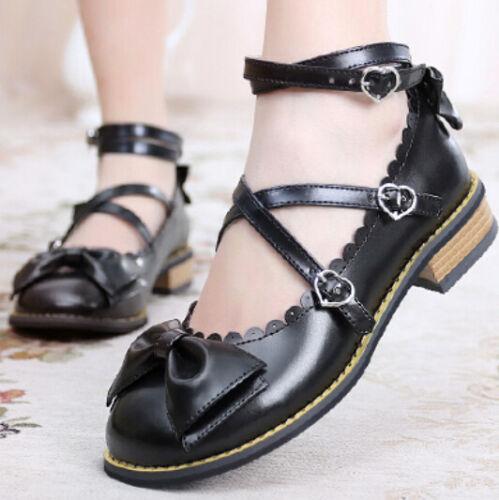 pour talons Mary croisées bas Janes bretelles Chaussures femmes Oxford à à Bowknot mvw80Nn
