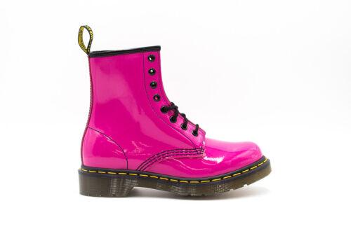 DR Martens 8 EYE Boot Pink Patent R11821670 Women