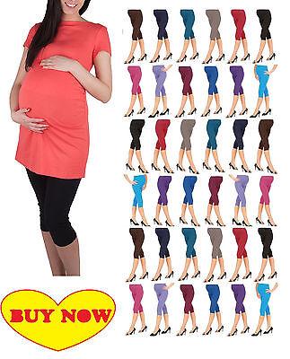 2019 Neuer Stil Cropped Very Comfortable Maternity Cotton Leggings 3/4 Length Pregnancy*mtrlg3/4 Reinigen Der MundhöHle.