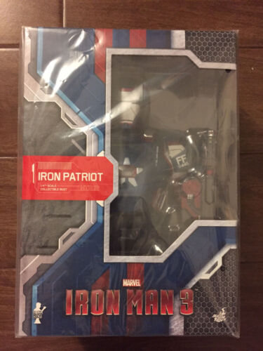 "HOT TOYS Iron man 3 Iron Patriot 1//4 9/"" BUST LED LIGHTUPS HOTTOYS"