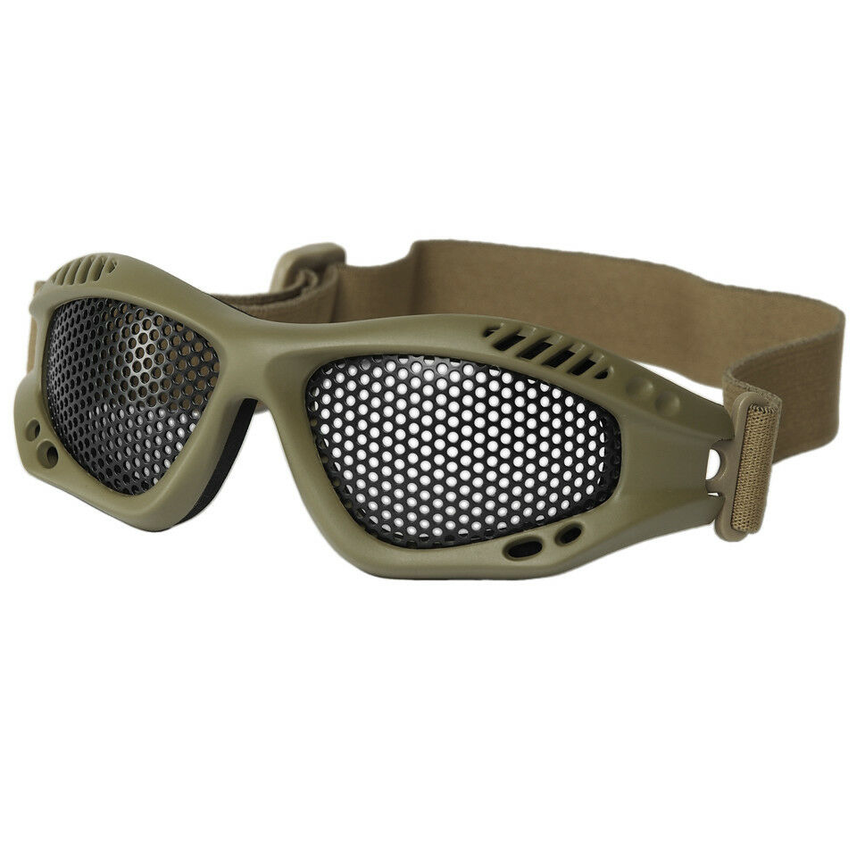 MIL-TEC TACTICAL METAL WIRE Anti Fog Safety GOGGLES Quad Mountain biking Caving