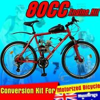 2 Stroke 80cc Motorised Push Bike Engine Kit Petrol Motorized Bicycle Motor Part