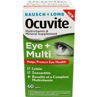 6 Pack Bausch + Lomb Ocuvite Eye + Multivitamin 60 Tablets Each on sale
