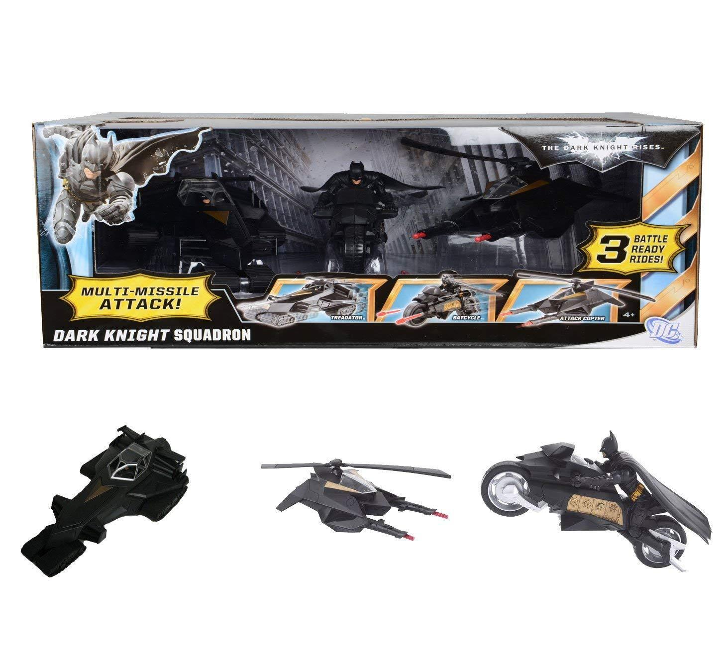Bathomme The Dark  Knight Rises Dark Knight Escadron TREADATOR & BATCYCLE & attaque  le magasin
