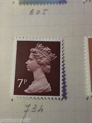 Gb Briefmarke 734 Elizabeth Neu Vf Briefmarke 1970/80 Großbritannien Uk