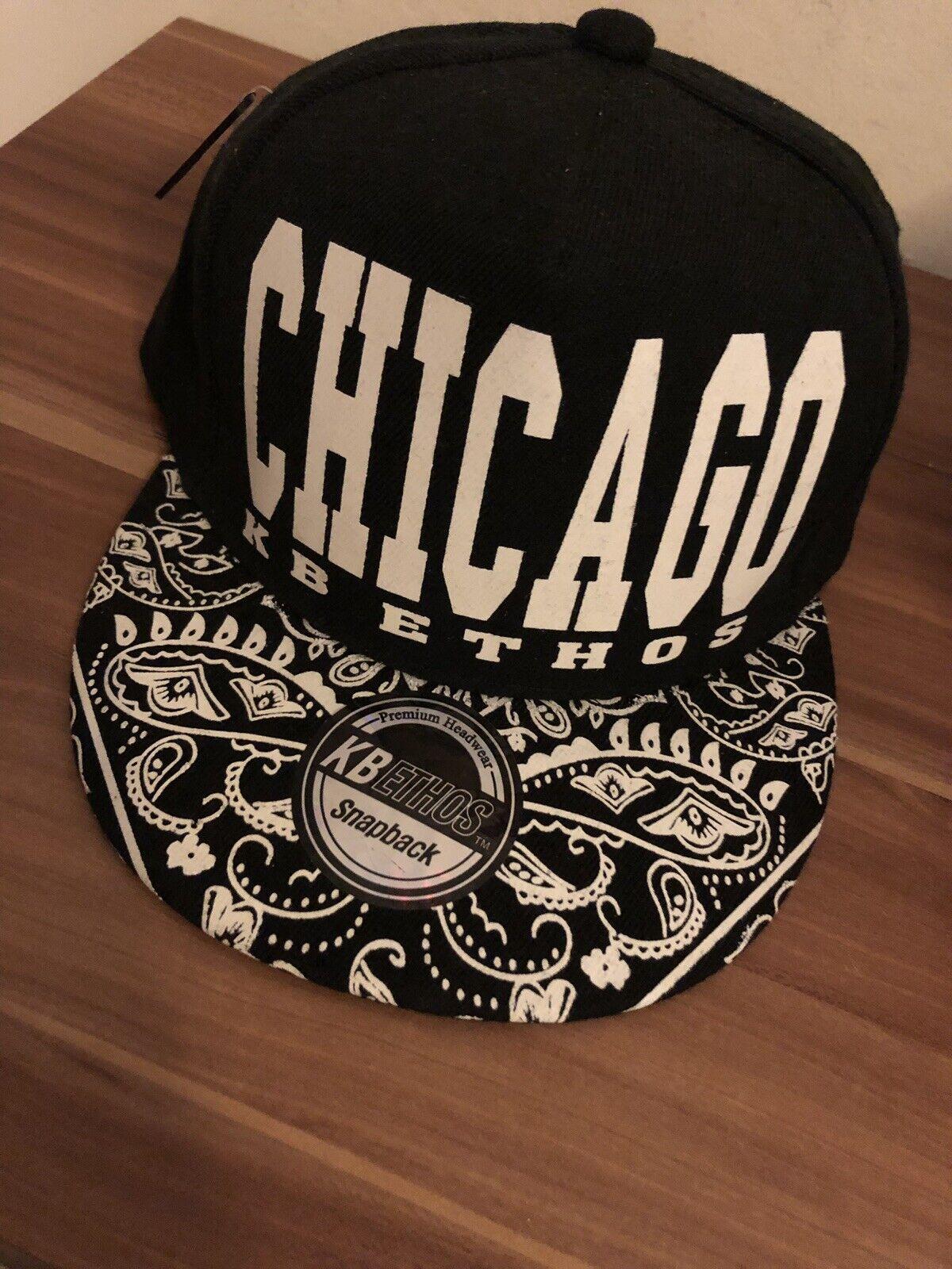 Chicago Cap Schwarz Weis