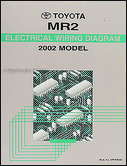 BRAND NEW 2002 Toyota MR2 Wiring Diagram Manual OEM Electrical Shop Repair Book