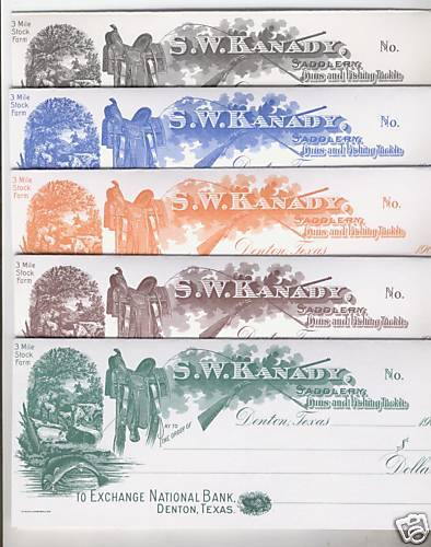"""/""""Saddle Check/"""" Greeting Cards Set//5 Different Colors"""