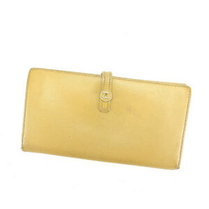 c07ccd72fa5f5c Image is loading Chanel-Wallet-Purse-Long-Wallet-Coco-Button-Beige-