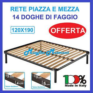 RETE ORTOPEDICA A DOGHE 1 PIAZZA E MEZZA PER LETTO 120X190 | eBay