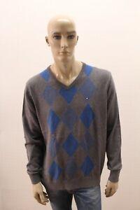 Maglione-TOMMY-HILFIGER-Uomo-Sweater-Pull-Maglia-Pullover-Man-Taglia-Size-L