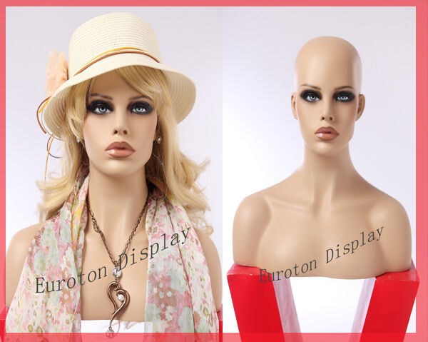 Fo Eurojoon Display Dekokopf parrucche testa Vetrina Bambola Mannequin femminile