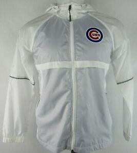 Chicago-Cubs-MLB-G-III-Men-039-s-White-Full-Zip-Light-Weight-Windbreaker