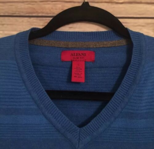 Alfani V scollo blu a fit slim con Small Maglione US4wqfn