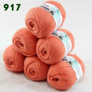 Sale-6-Skeins-x50g-LACE-Soft-Acrylic-Wool-Cashmere-Shawls-Hand-Knitting-Yarn-17