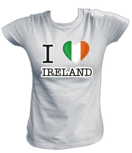 I LOVE DG Damen T-Shirt Republic of IRELAND Irland Dublin Fußball Soccer